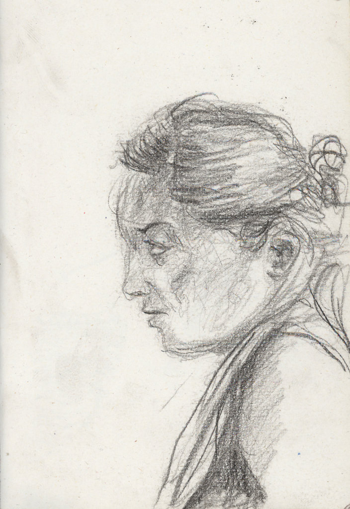 Femme de profil