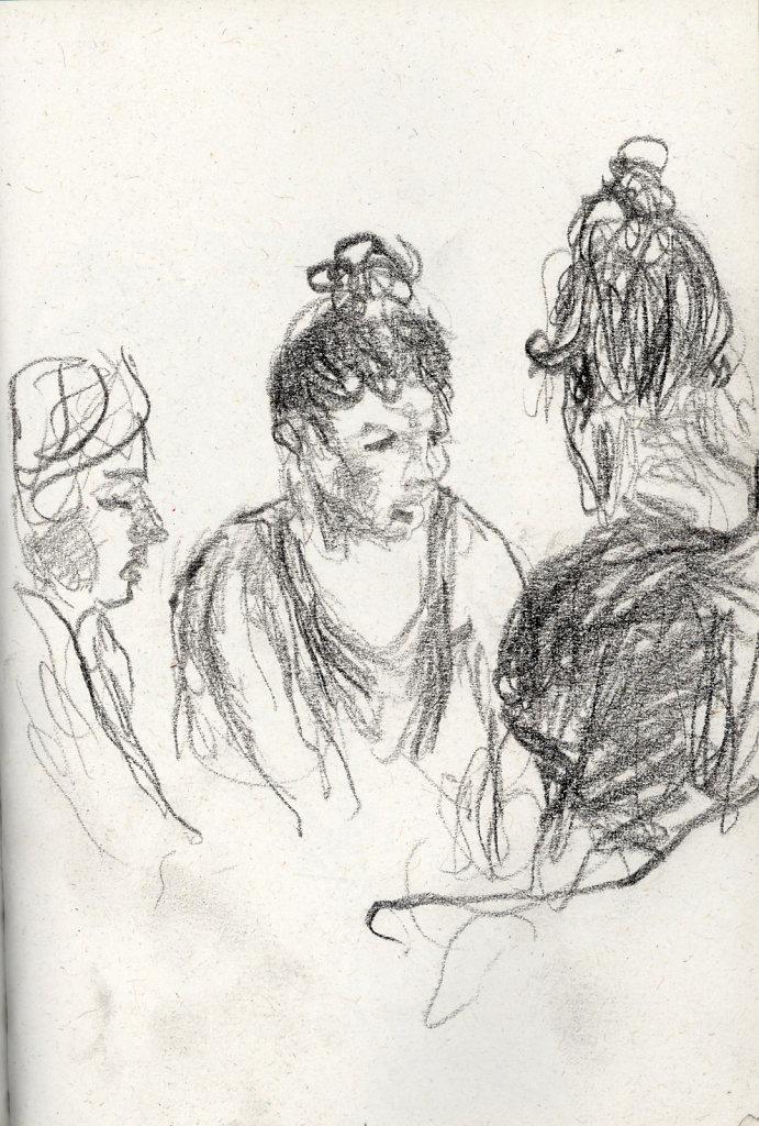 Trois femmes au café
